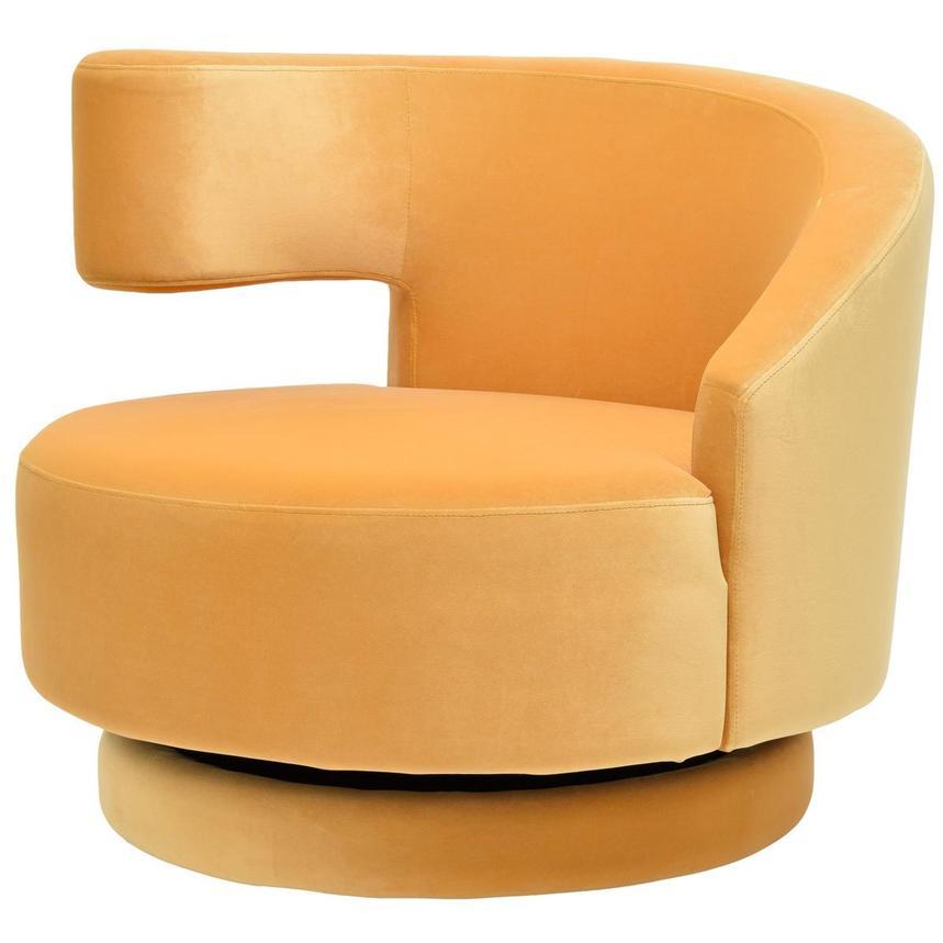 Captivating Okru Yellow Swivel Chair Alternate Image, 2 Of 7 Images.