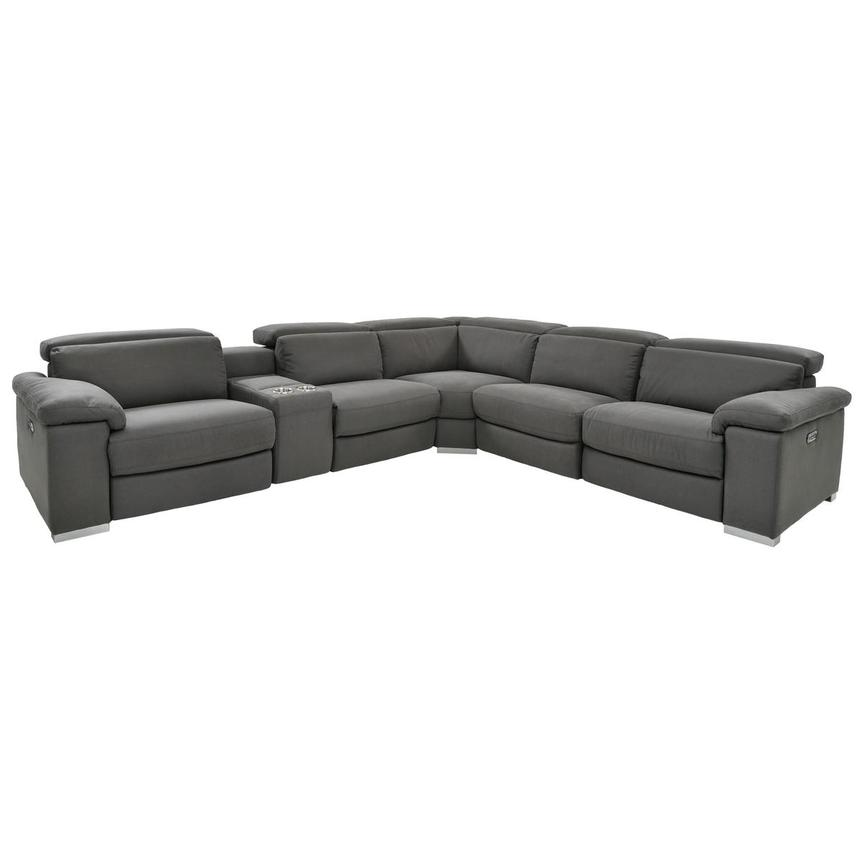 Karly Dark Gray Power Motion Sofa w/Right & Left Recliners  main image, 1 of 8 images.