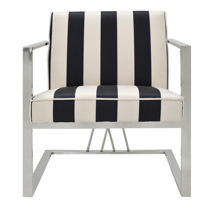 Fairmont Black/White Accent Chair  main image, 1 of 6 images.