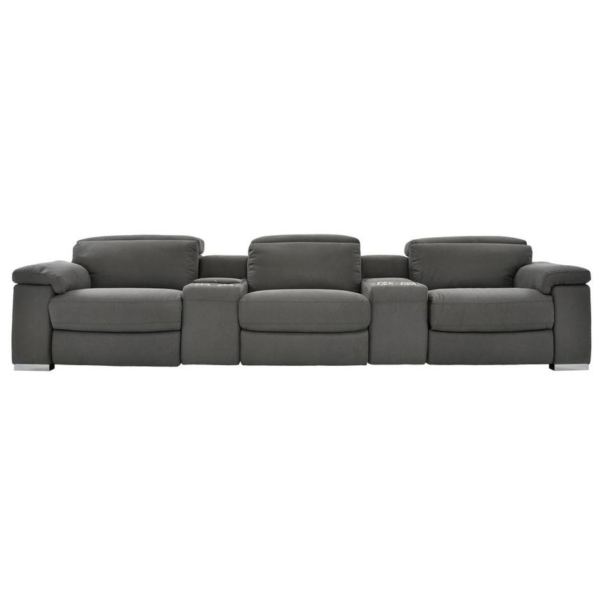 Karly Dark Gray Home Theater Seating  main image, 1 of 9 images.