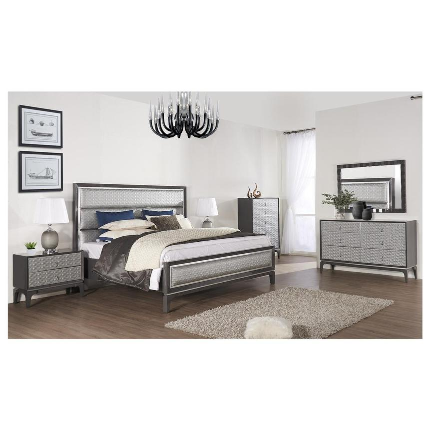 Chelsea Gray 4-Piece Queen Bedroom Set  alternate image, 2 of 6 images.