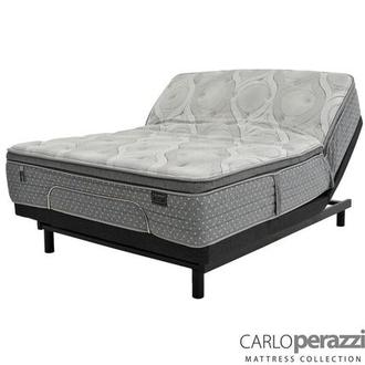 Corvara King Mattress w/Essentials III Powered Base by Serta