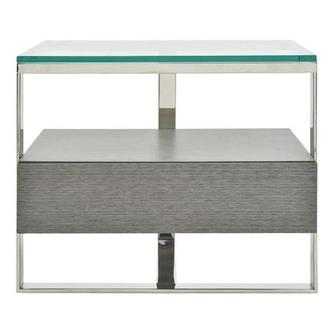 Calypso Matte Gray Side Table