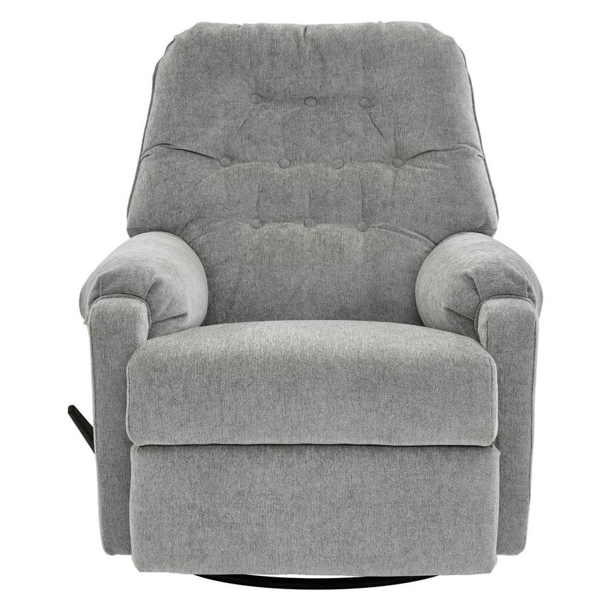 Sondra Gray Swivel Rocker Recliner El Dorado Furniture