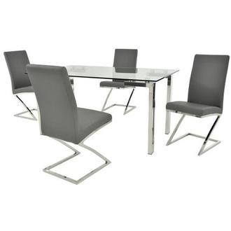 Julli/Jade Gray 5-Piece Casual Dining Set