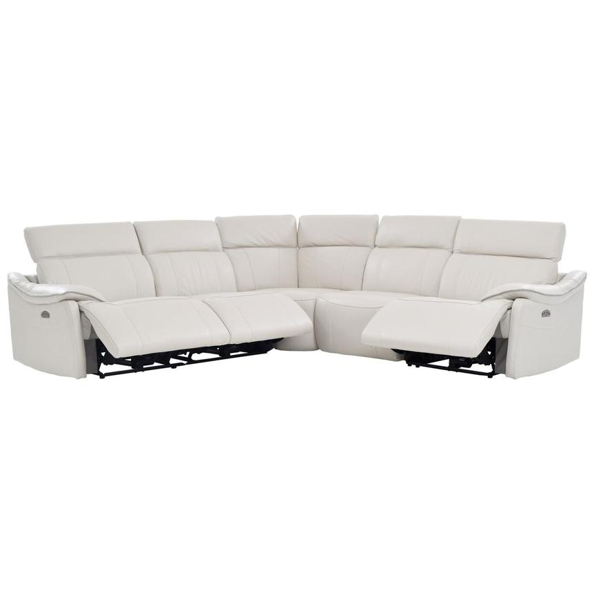 Austin Power Motion Leather Sofa w/Right & Left Recliners  alternate image, 2 of 6 images.