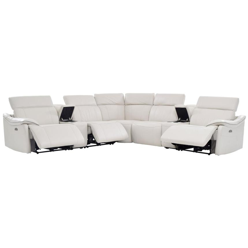 Austin Power Motion Leather Sofa w/Right & Left Recliners  alternate image, 2 of 8 images.
