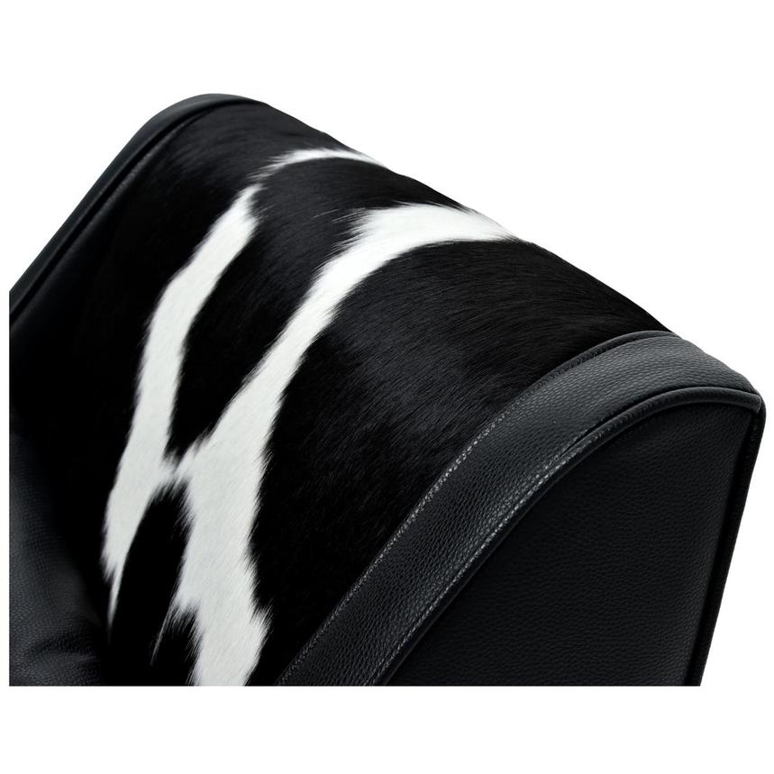 Krava Black Leather Accent Chair w/Ottoman  alternate image, 6 of 9 images.