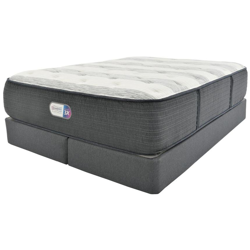 Clover Spring King Mattress w/Regular Foundation by Simmons Beautyrest Platinum  main image, 1 of 5 images.