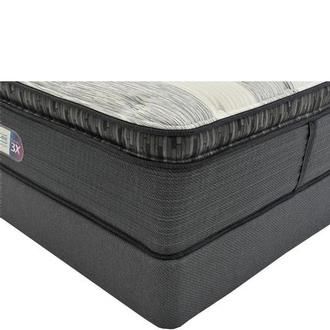 Clover Spring PT Queen Mattress w/Low Foundation by Simmons Beautyrest Platinum