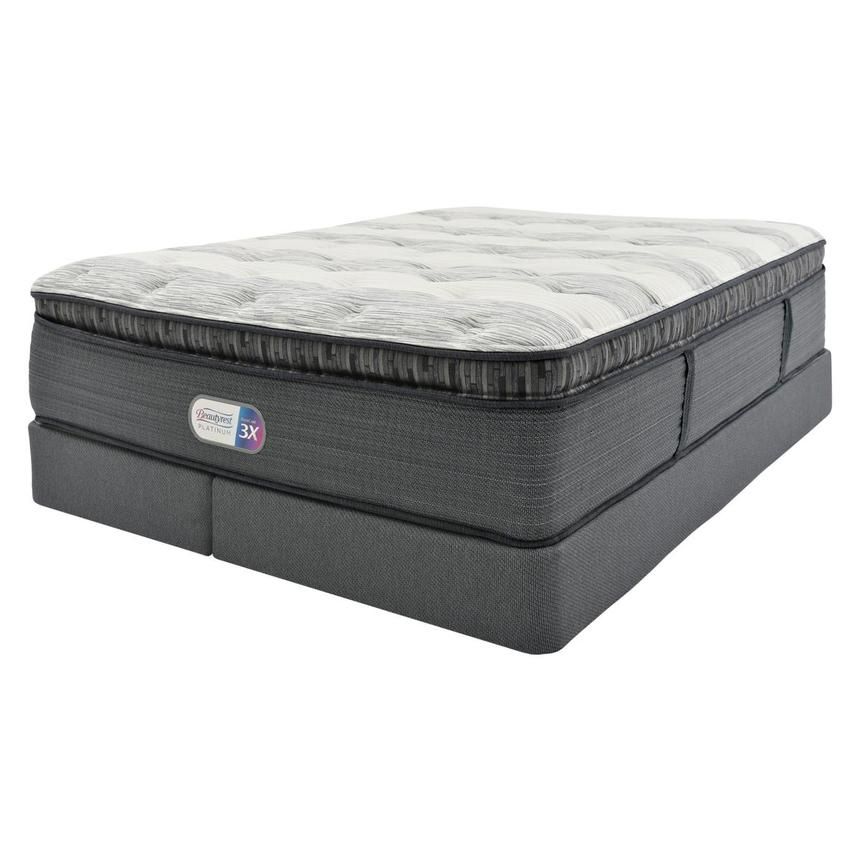 Clover Spring PT King Mattress w/Regular Foundation by Simmons Beautyrest Platinum  alternate image, 2 of 5 images.