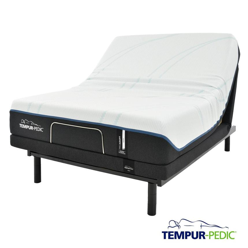 ProAdapt Soft Queen Memory Foam Mattress w/Ergo® Powered Base by Tempur-Pedic  main image, 1 of 7 images.
