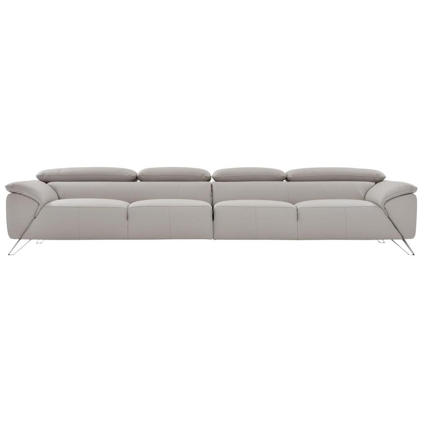 Tesla Gray Oversized Leather Sofa  main image, 1 of 5 images.