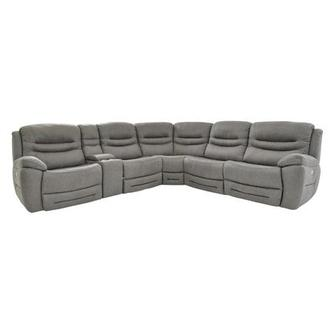 Dan Gray Power Motion Sofa w/Right & Left Recliners