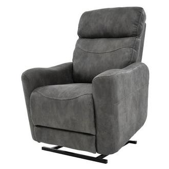Jimmy Dark Gray Power-Lift Recliner