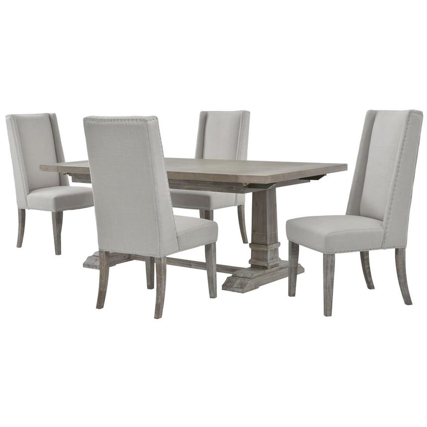 Hudson Gray 5-Piece Formal Dining Set  main image, 1 of 13 images.