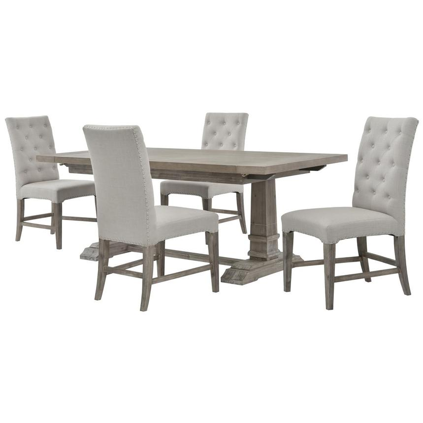 Hudson Beltran Gray 5 Piece Formal Dining Set El Dorado