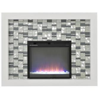 Crystal Faux Fireplace w/Remote Control