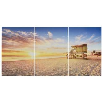 Miami Beach II Set of 3 Acrylic Wall Art