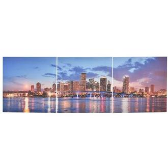 Miami Skyline III Set of 3 Acrylic Wall Art