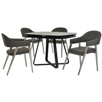 Adelle Gray 5-Piece Formal Dining Set