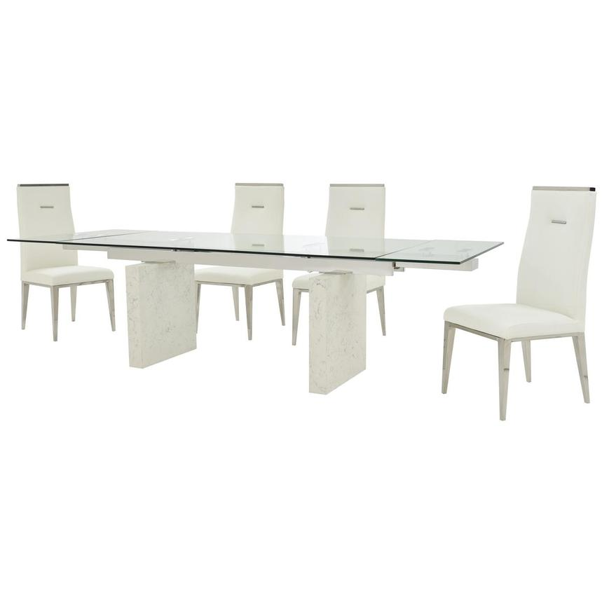 Industria/Hyde White 5-Piece Formal Dining Set  alternate image, 2 of 15 images.