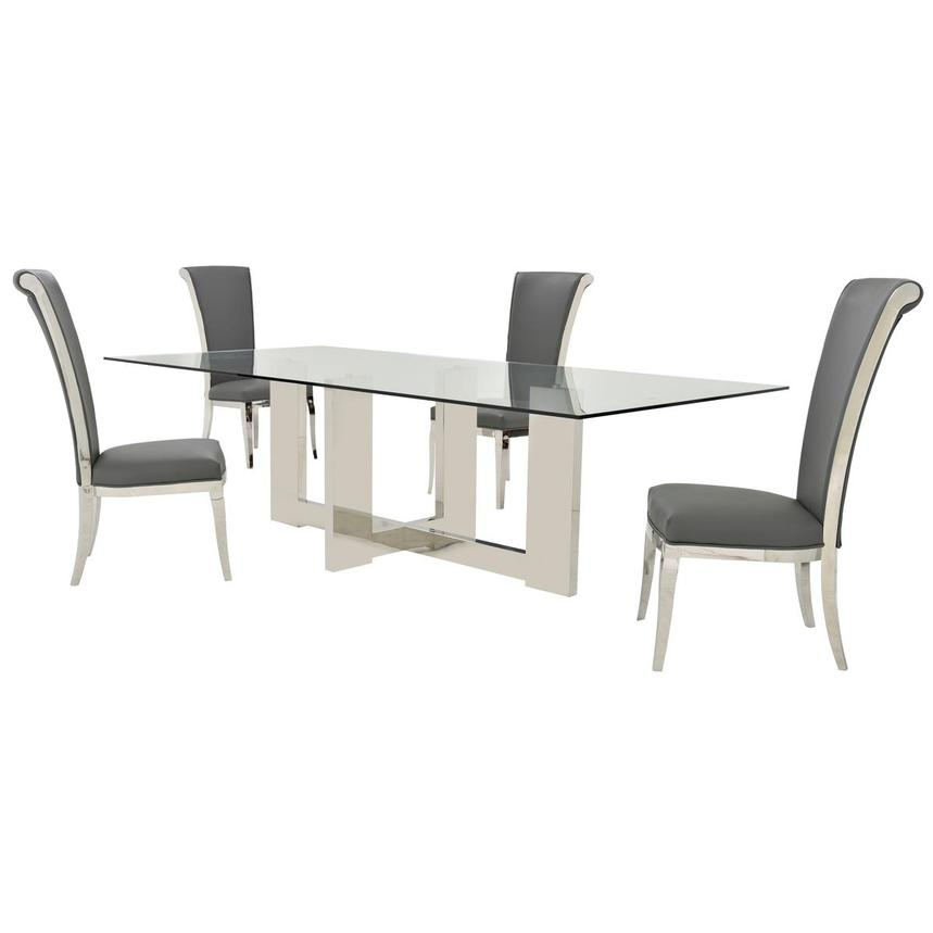 Opus/Joy Gray 5-Piece Formal Dining Set  main image, 1 of 10 images.