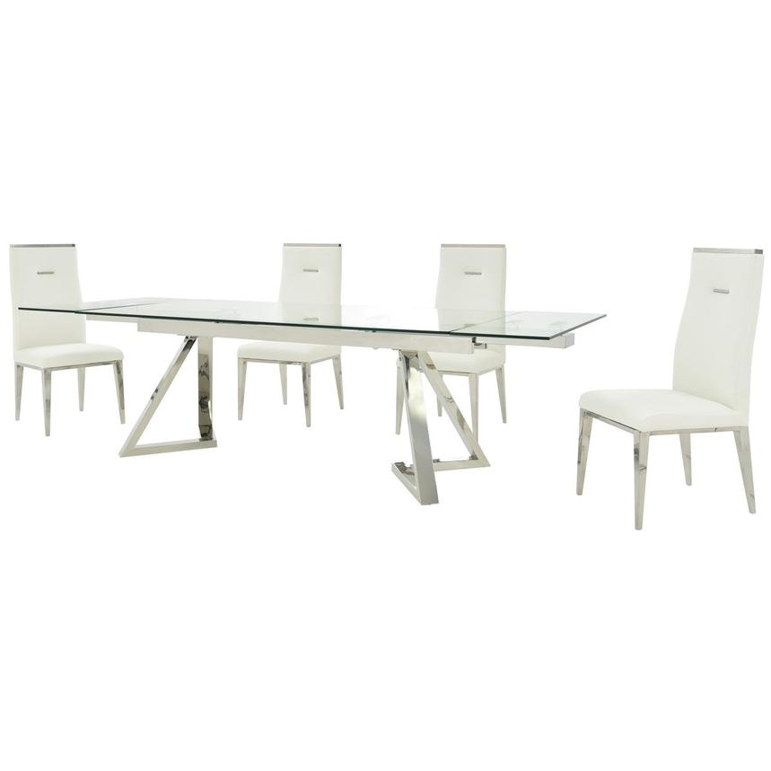 Suri/Hyde White 5-Piece Formal Dining Set  alternate image, 2 of 14 images.