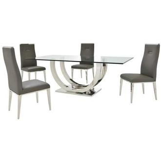 Ulysis/Hyde Gray 5-Piece Formal Dining Set