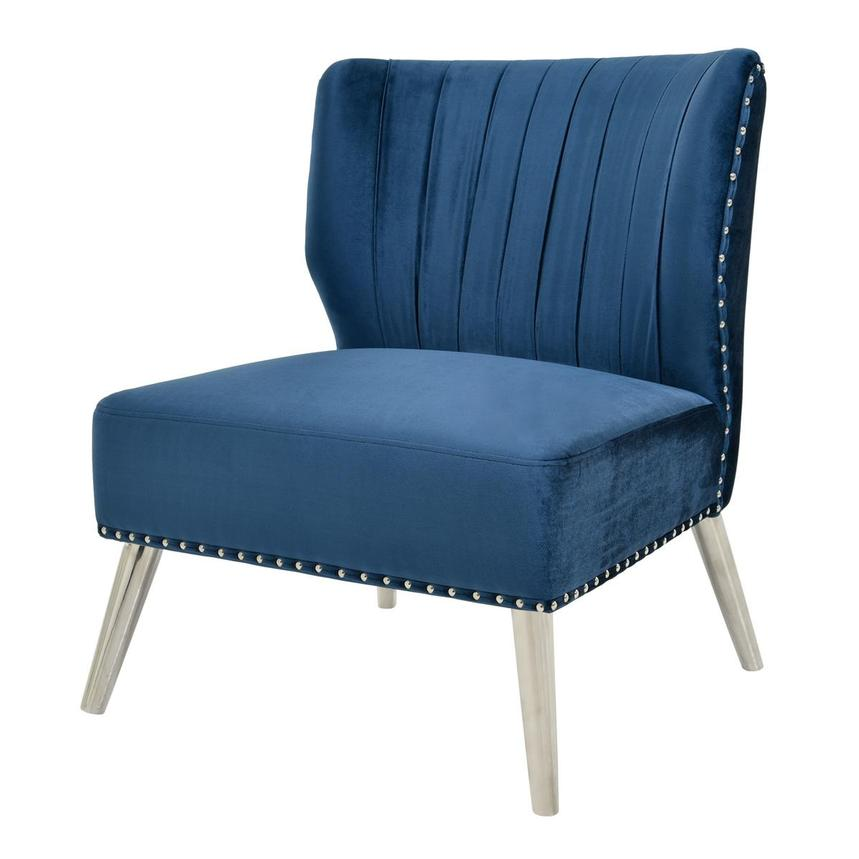 Palermo Blue Accent Chair  alternate image, 2 of 6 images.