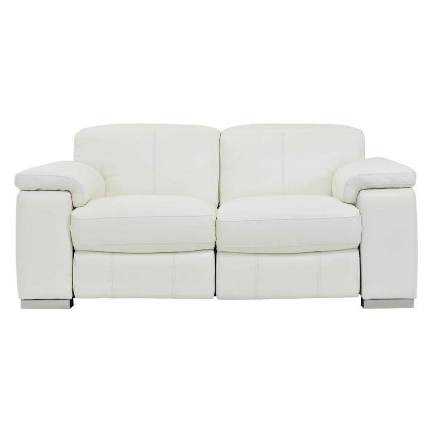Charlie White Power Motion Leather Loveseat  main image, 1 of 7 images.