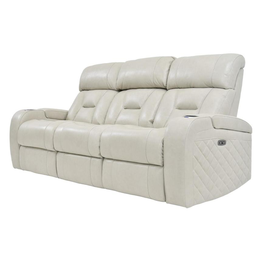Gio Cream Power Motion Leather Sofa  alternate image, 2 of 12 images.