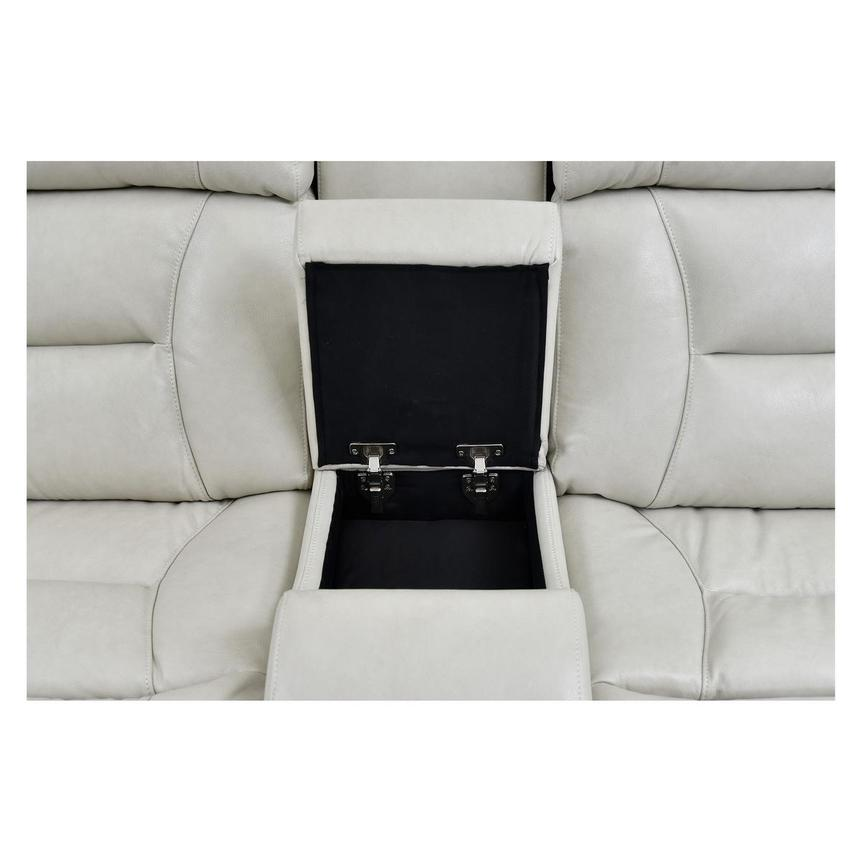 Gio Cream Power Motion Leather Sofa w/Console  alternate image, 7 of 10 images.