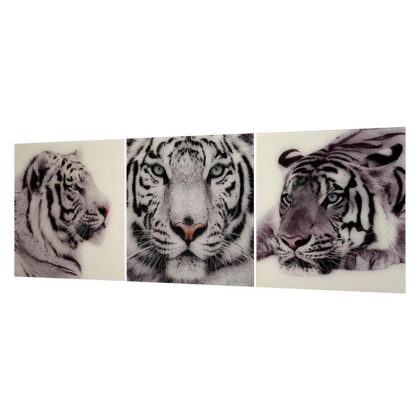 Tiger Set of 3 Acrylic Wall Art  alternate image, 2 of 4 images.