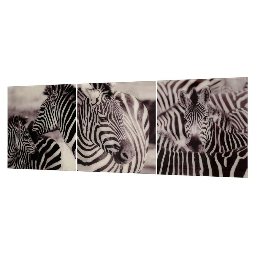 Zebra Set of 3 Acrylic Wall Art  alternate image, 2 of 4 images.