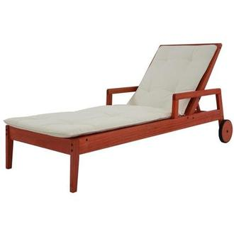 Nassau Red Chaise Lounge Made in Brazil