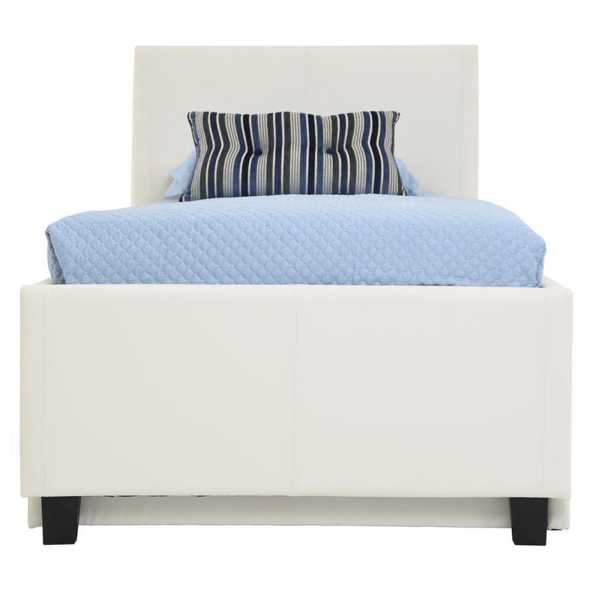 Tate White Full Bed Wtrundle El Dorado Furniture