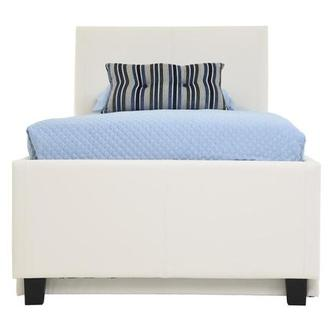 Tate White Full Bed w/Trundle