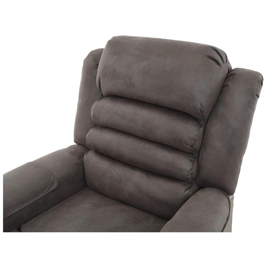 Soother Gray Power-Lift Leather Recliner  alternate image, 6 of 8 images.