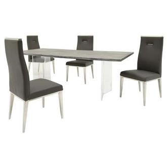 Light/Hyde Gray 5-Piece Formal Dining Set