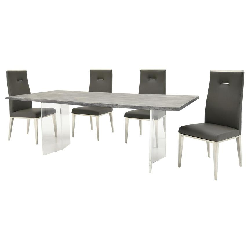 Light/Hyde Gray 5-Piece Formal Dining Set  alternate image, 2 of 13 images.