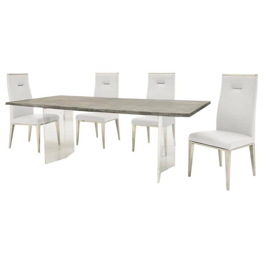 Light/Hyde White 5-Piece Formal Dining Set  alternate image, 2 of 13 images.