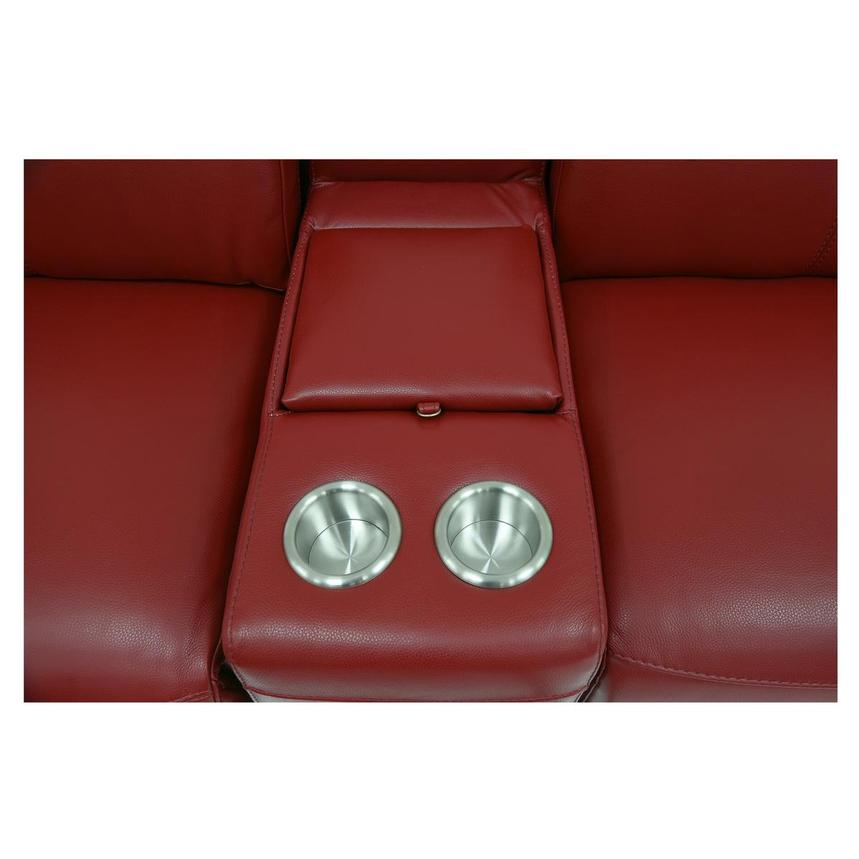 Davis 2.0 Red Home Theater Leather Seating  alternate image, 7 of 8 images.