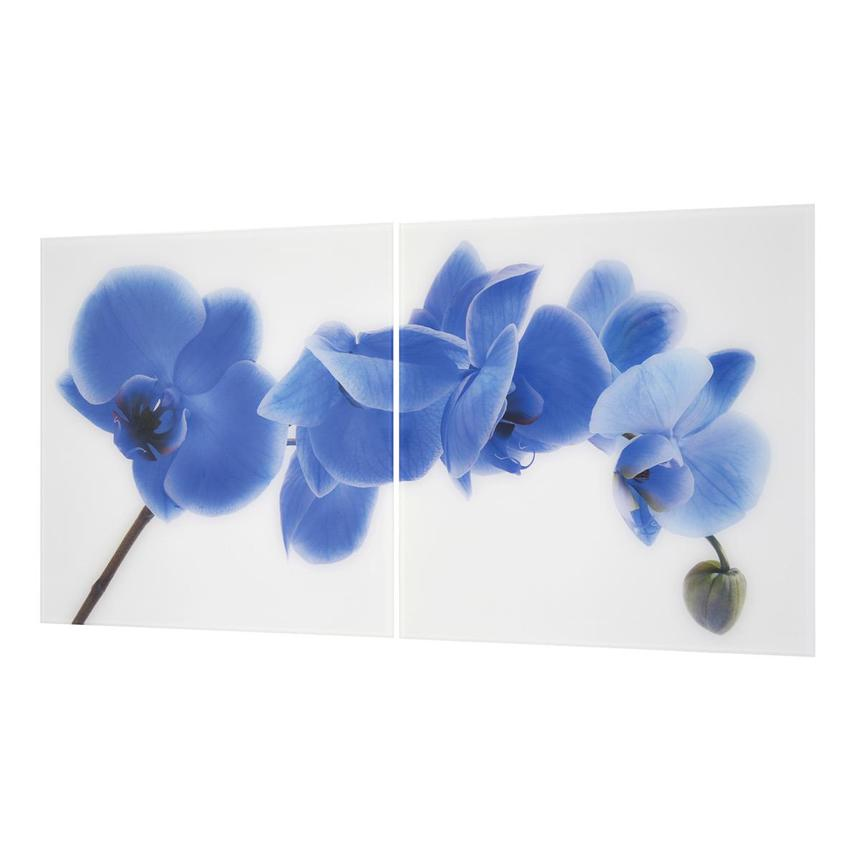 Orchidee Blue Set of 2 Acrylic Wall Art  alternate image, 2 of 4 images.