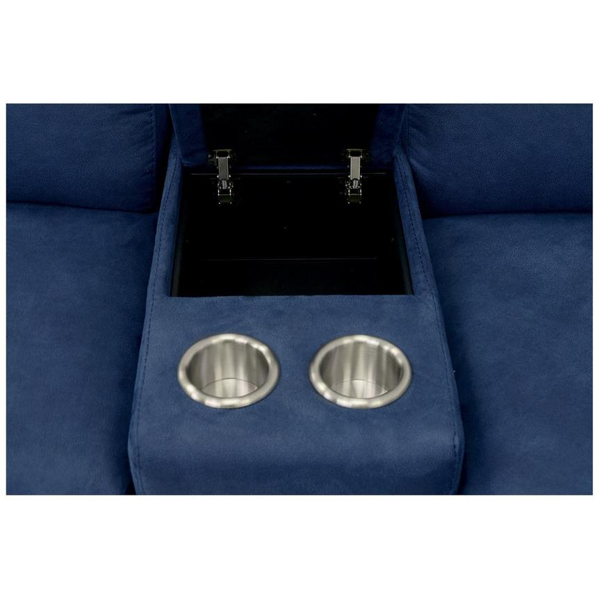 Karly Blue Power Motion Sofa w/Right & Left Recliners  alternate image, 6 of 8 images.