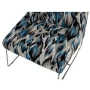Tutti Frutti Blue Accent Chair w/2 Pillows  alternate image, 7 of 10 images.