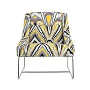 Tutti Frutti Yellow Accent Chair w/2 Pillows  alternate image, 2 of 10 images.