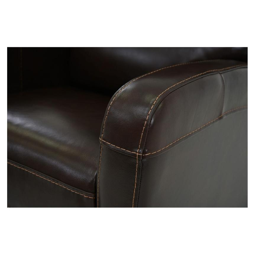 Keegan Chocolate Power Motion Leather Recliner  alternate image, 6 of 7 images.