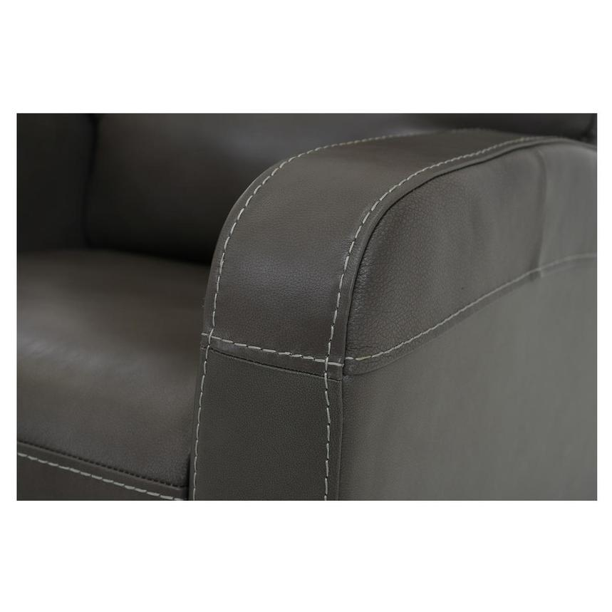 Keegan Gray Power Motion Leather Recliner  alternate image, 6 of 7 images.