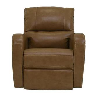 Keegan Tan Power Motion Leather Recliner